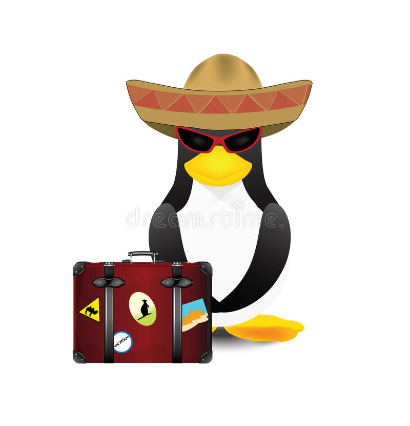 Pingüino en camino libre illustration