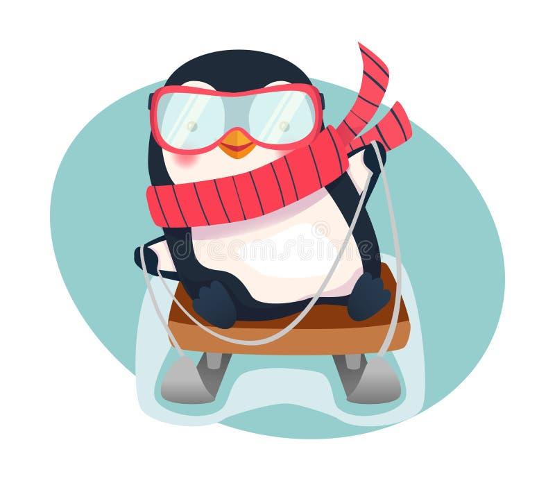 Pingüino en el trineo libre illustration