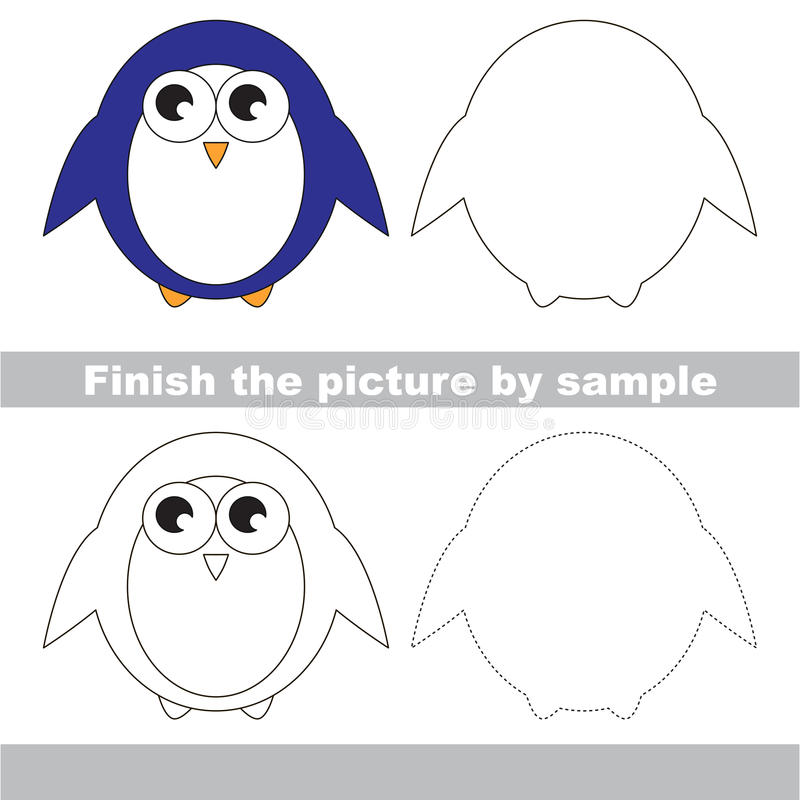pingüino Hoja de trabajo del dibujo libre illustration