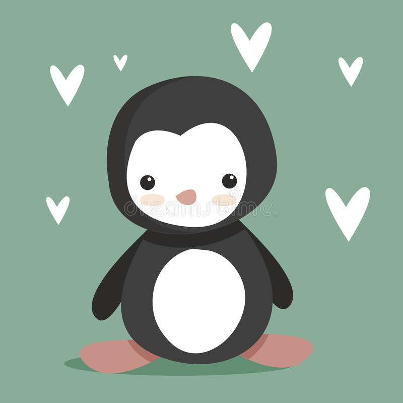 Pingüino lindo libre illustration