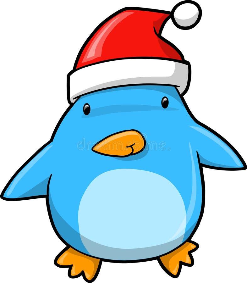 Pingüino lindo del día de fiesta de la Navidad stock de ilustración
