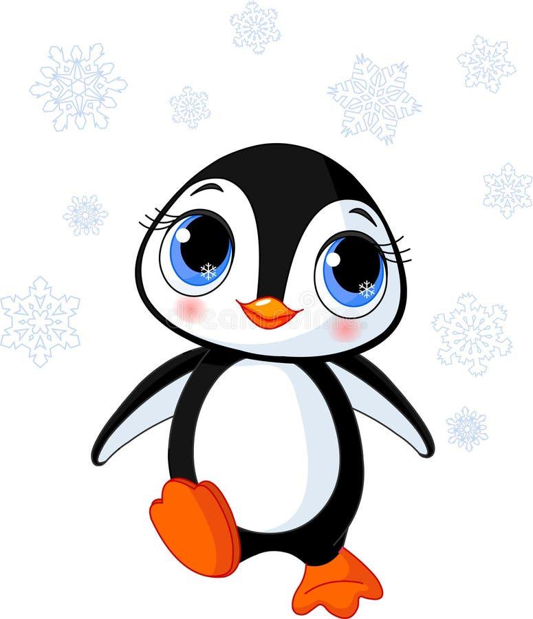 Pingüino lindo del invierno libre illustration