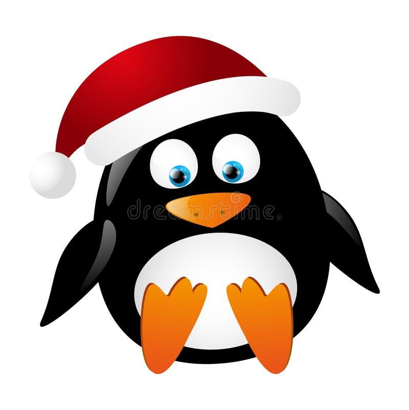 Pingüino lindo Santa ilustración del vector