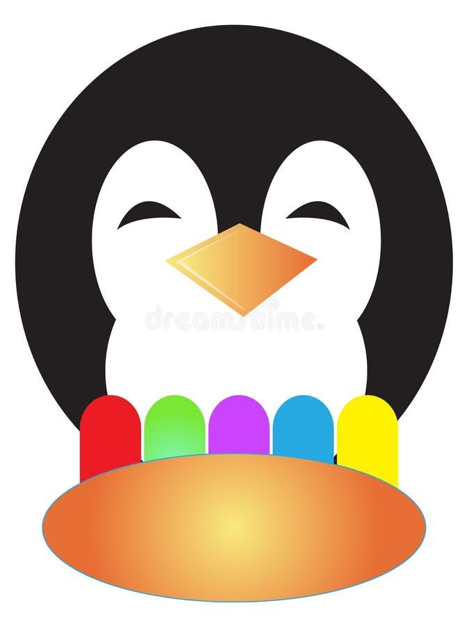 Pingüino y popsicle ilustración del vector