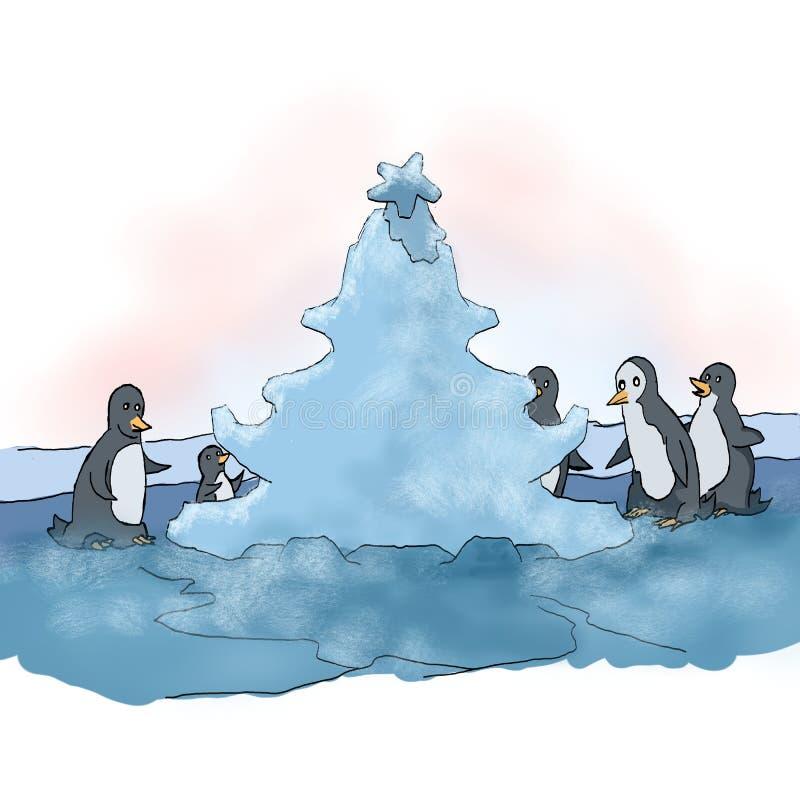 Pingüinos y la Navidad libre illustration