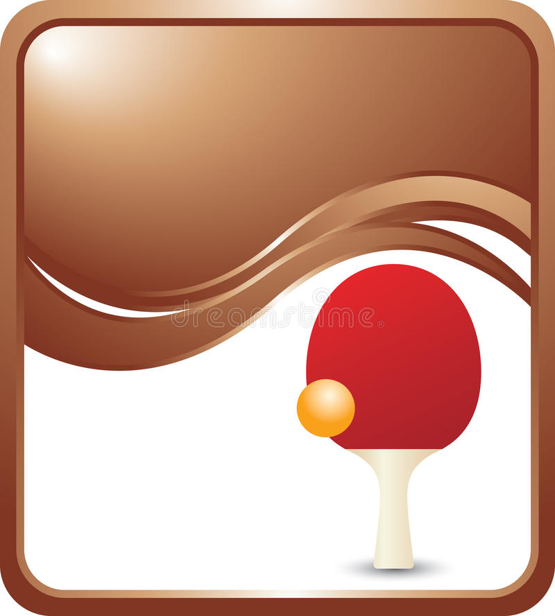 Ping Pong Ball And Paddle On Bronze Wave Ad Royalty Free Stock Photos