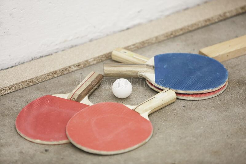 Ping Pong Ball And Paddles Free Public Domain Cc0 Image