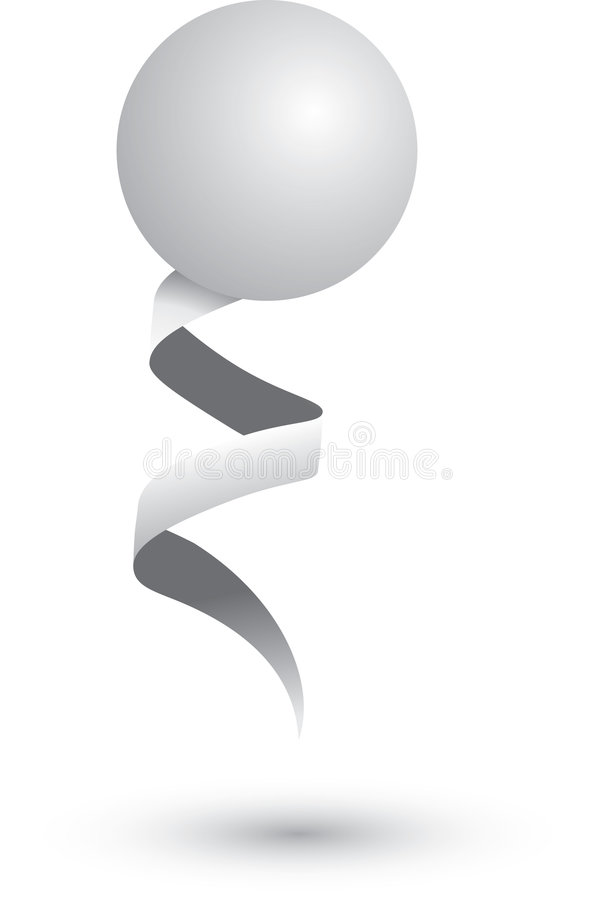 Download Ping Pong Ball On A Ribbon Royalty Free Stock Photography - Image: 8984407