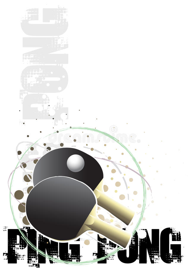 Ping pong circle poster background