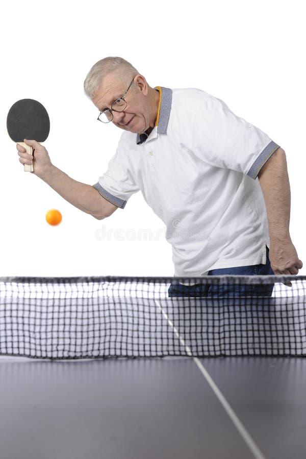 Ping Pong Man Focused royalty free stock photos