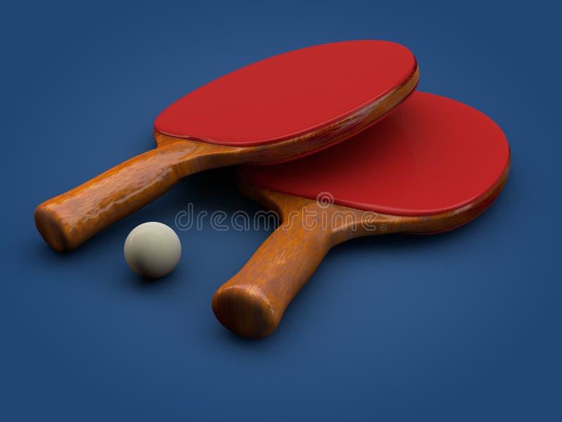 Ping Pong Paddle lizenzfreie stockfotos