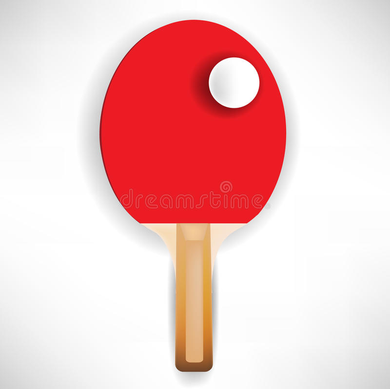 Download Ping pong paddle with ball stock vector. Image of championship - 21620126