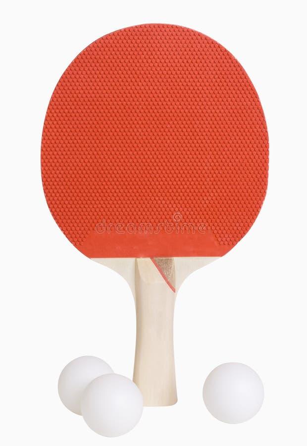 Ping Pong Paddle and Balls stock photo