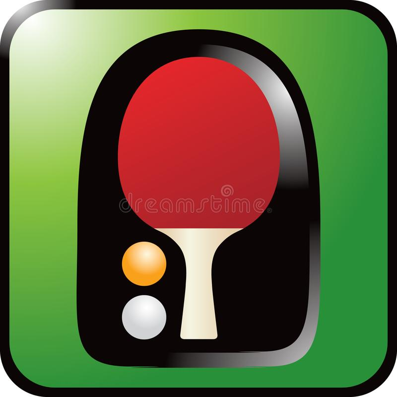 Download Ping Pong Paddle On Green Background Stock Vector - Illustration of ping, match: 9014124