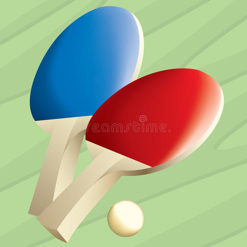 Download Ping Pong Paddles stock vector. Illustration of game - 23857035