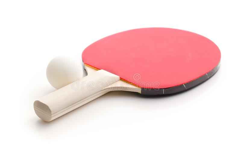 Ping pong racket and ball. Table tennis equipment royalty free stock photography