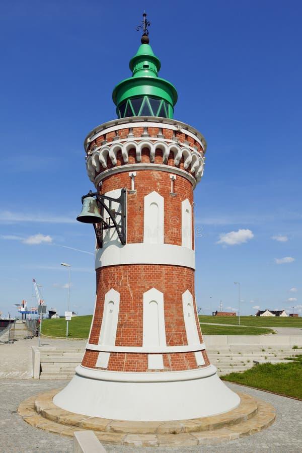 Pingelturm,在不来梅港港口的历史的烽火台  免版税库存照片