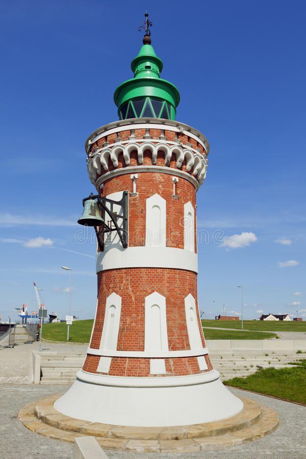 The Pingelturm, historic beacon at the harbor of Bremerhaven royalty free stock photo