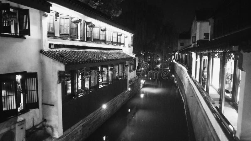 Pingjiang-Straße å ¹ ³ 江路〠'Suzhou Jiangsu China stockfotografie