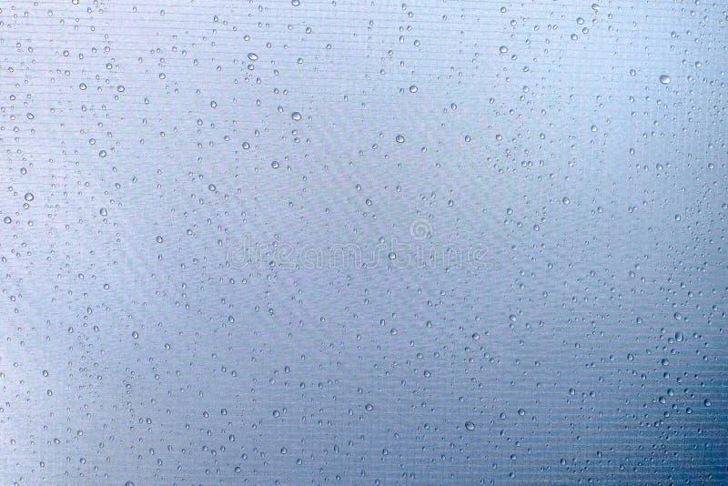 Pingos de chuva na barraca fotos de stock