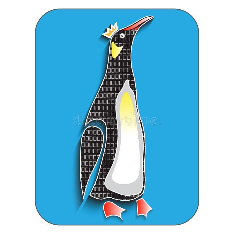 Pingouin, d'isolement, illustration de vecteur photographie stock libre de droits