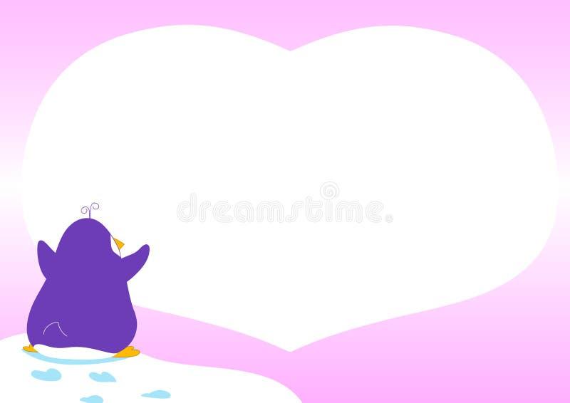 Pingouin dans l'amour - illustration vectorielle illustration de vecteur