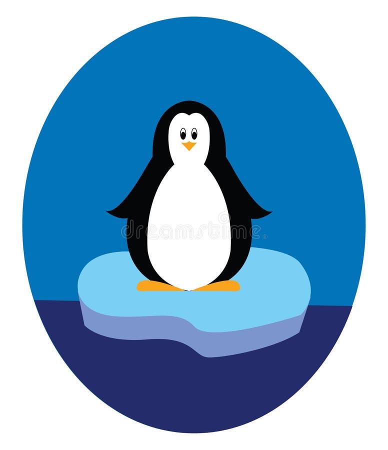 Pingouin debout sur un vecteur d'illustration iceberg illustration de vecteur
