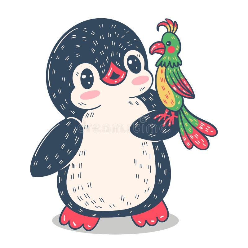 Pingouin dr?le de dessin anim? illustration de vecteur