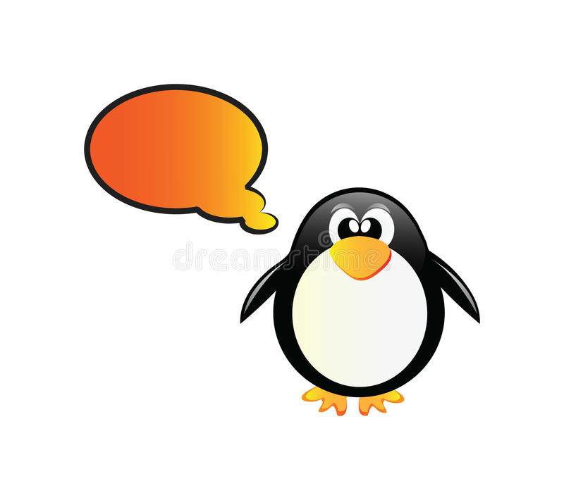 Pingouin parlant illustration de vecteur