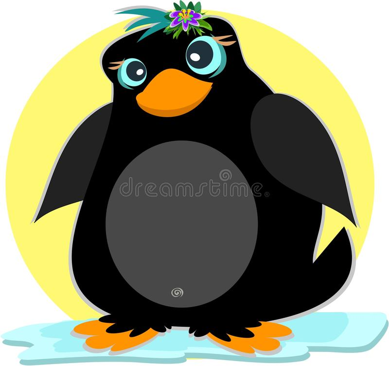 Pingouin sur un iceberg illustration stock