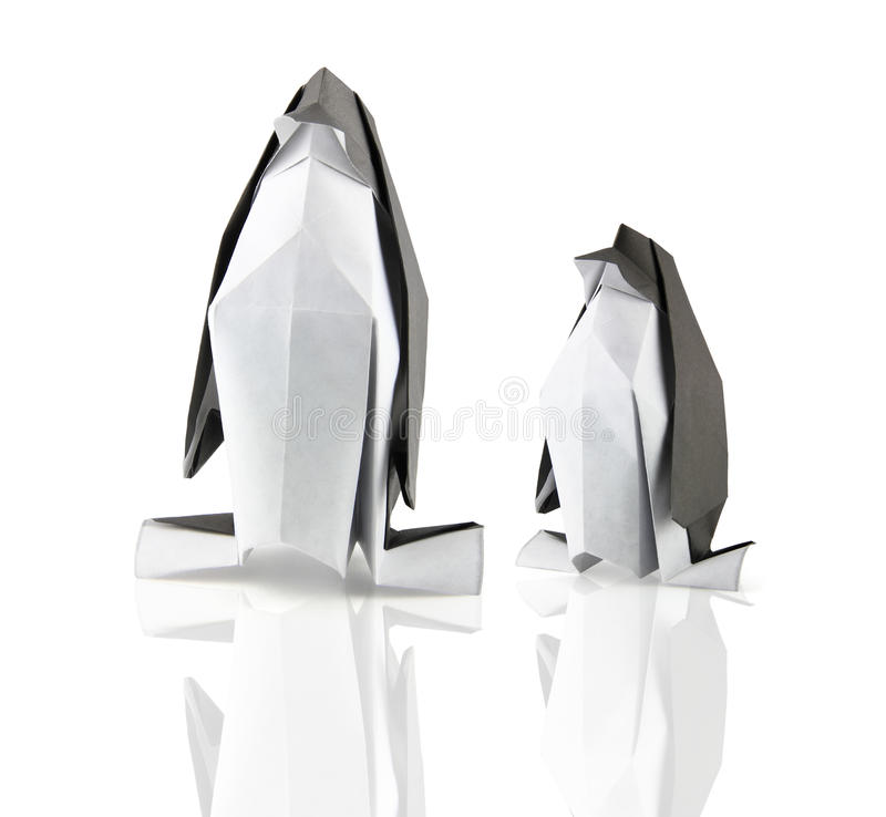 Pingouins d'Origami photo stock
