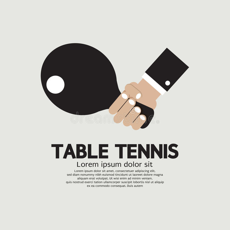 Pingpong Binnensport royalty-vrije illustratie