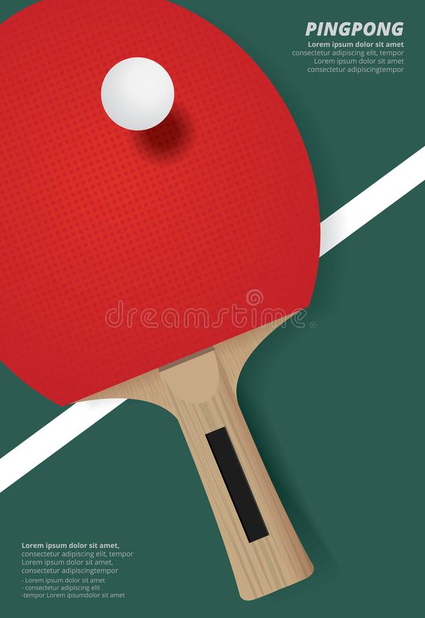 Free Pingpong Poster Template Royalty Free Stock Images - 102919679