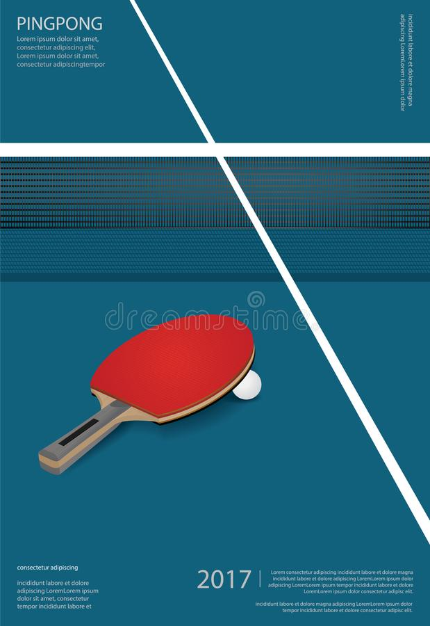 Free Pingpong Poster Template Royalty Free Stock Image - 104224586