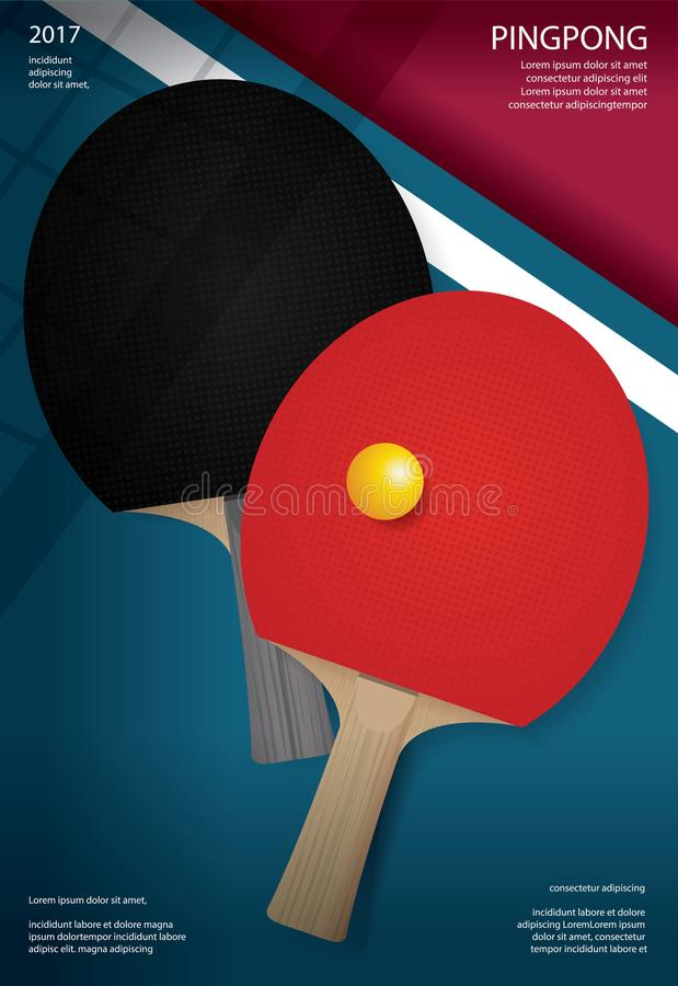 Free Pingpong Poster Template Royalty Free Stock Image - 107363246