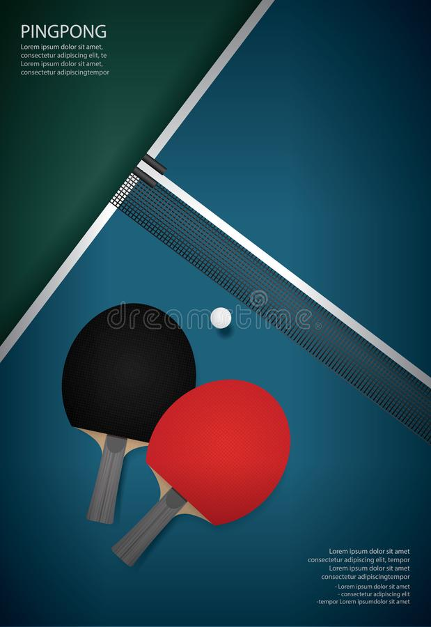 Free Pingpong Poster Template Royalty Free Stock Photography - 128306217