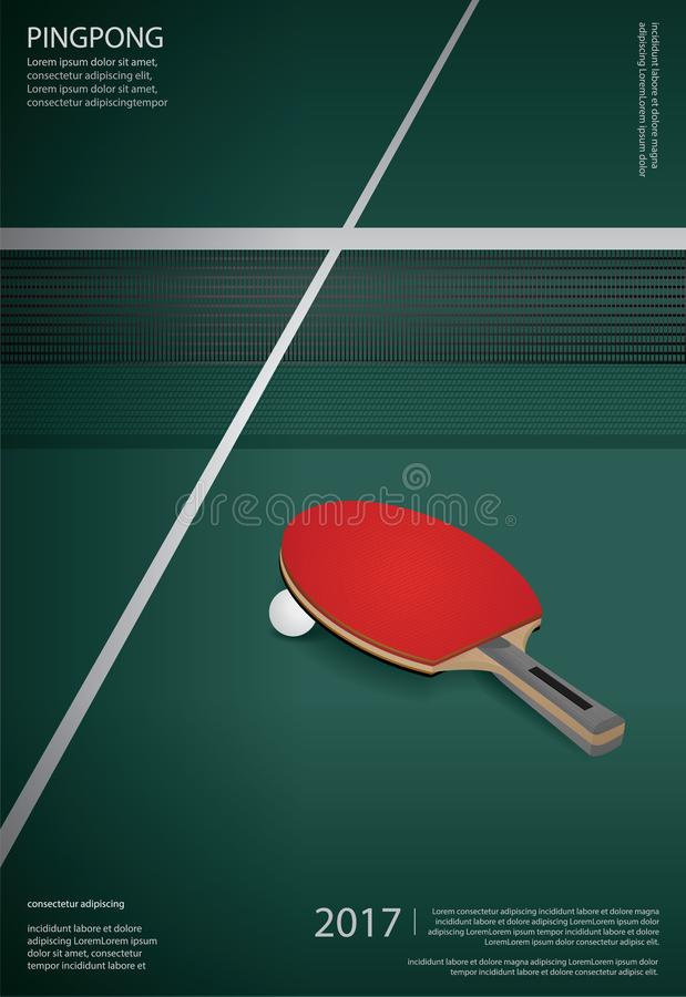 Free Pingpong Poster Template Royalty Free Stock Photo - 131215775