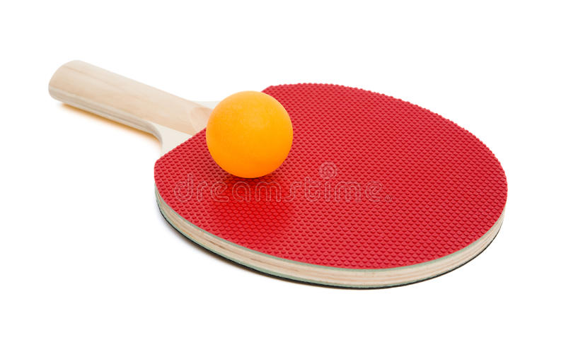 Pingpong rackets and ball with clipping path stock images