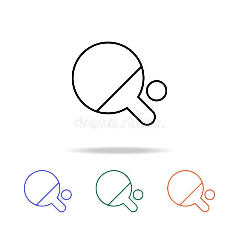 Pingpongpictogram Elementen van eenvoudig Webpictogram in multikleur Grafisch het ontwerppictogram van de premiekwaliteit Eenvoud vector illustratie