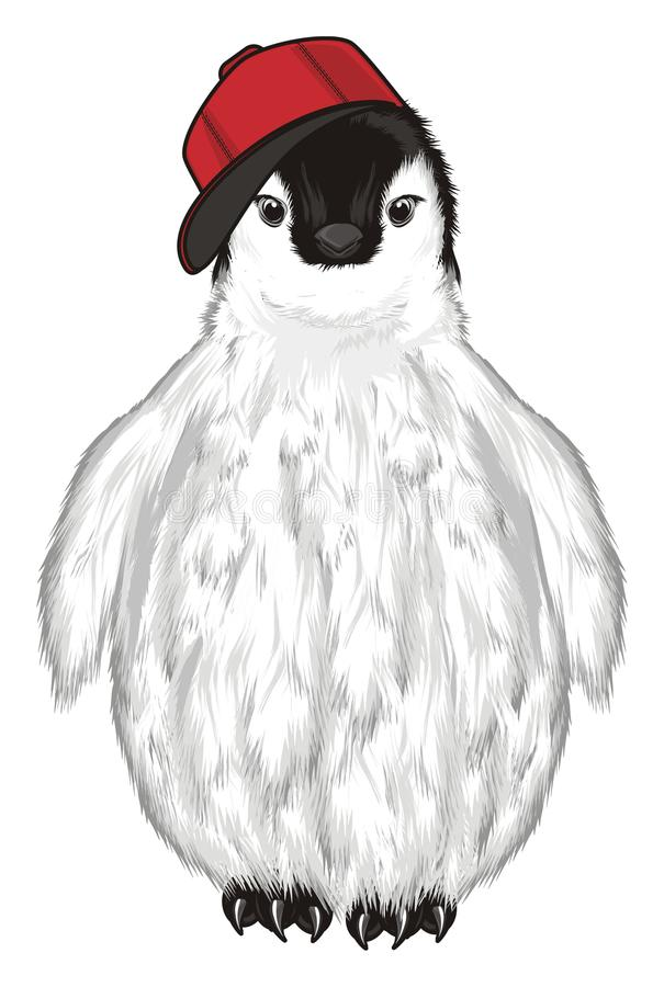 Pinguïn in koel GLB vector illustratie