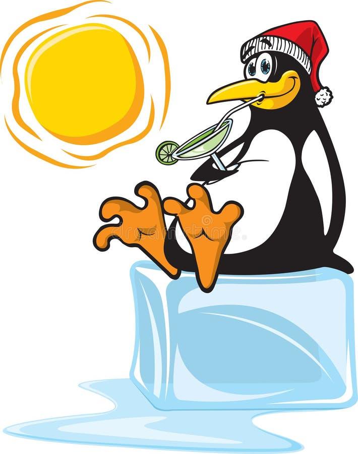 Pinguïn op Ijs vector illustratie