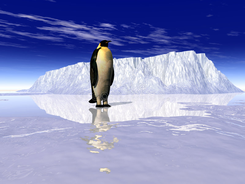Pinguïnen 1 royalty-vrije illustratie
