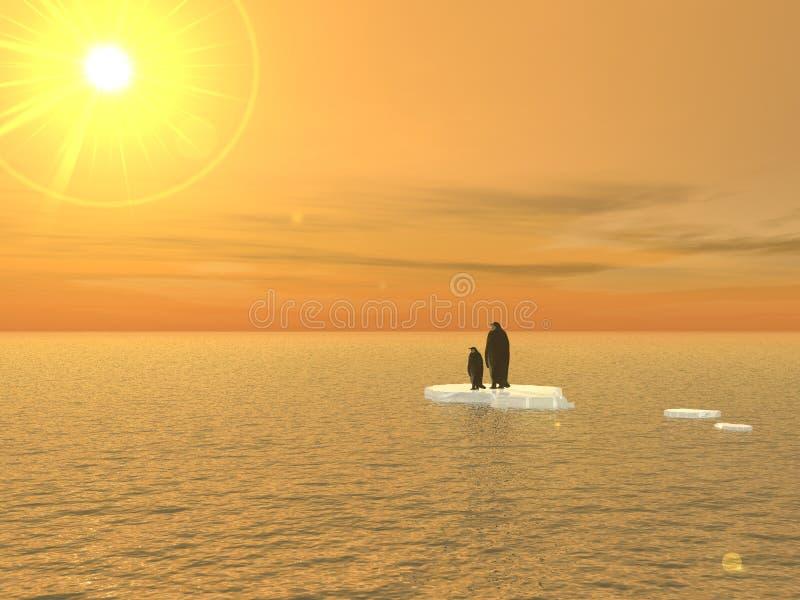 Pinguïnen: Een visie van 2020 stock illustratie
