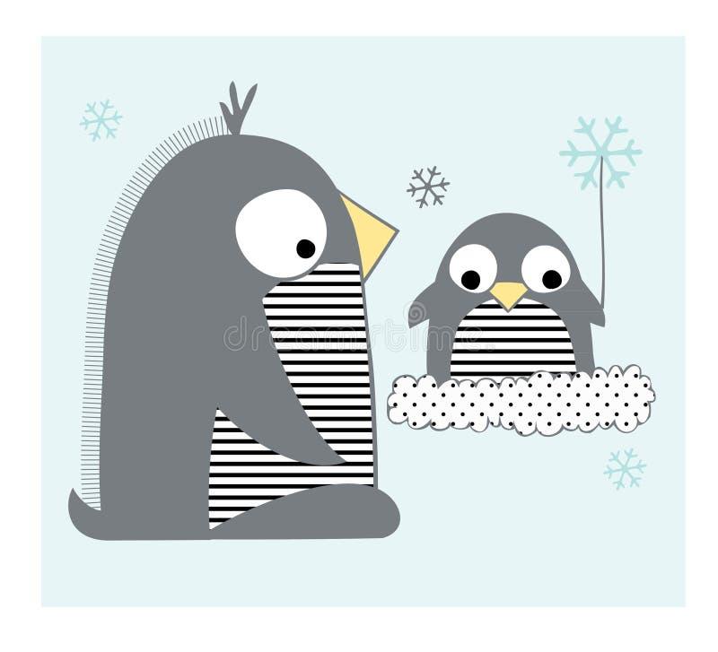 Pinguïnenfamilie Royalty-vrije Stock Foto