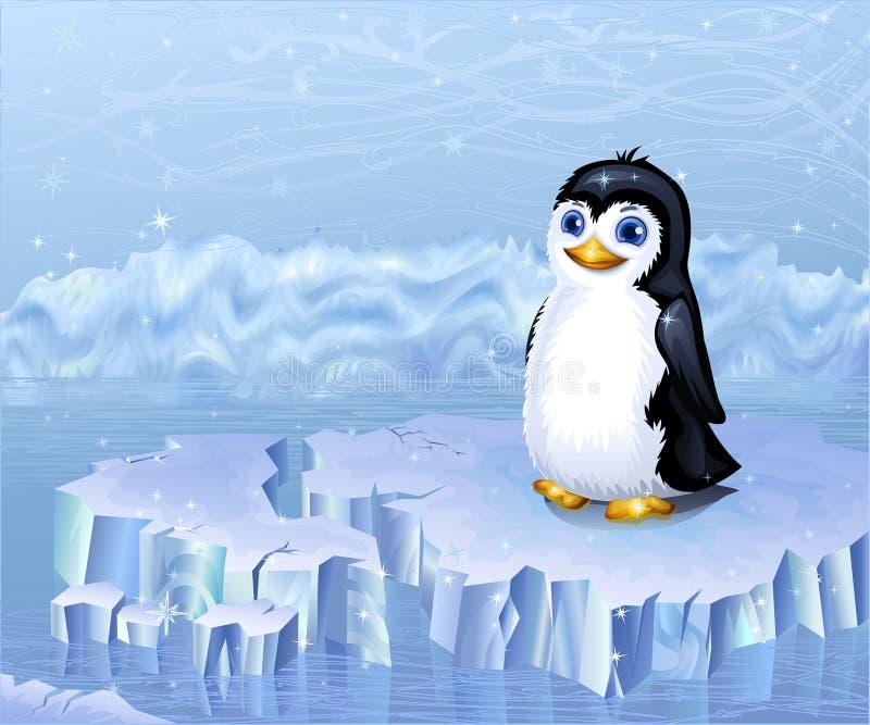 Pinguim ártico ilustração stock