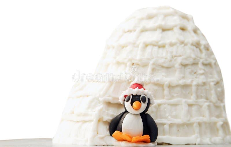 Pinguim Art Sculptures foto de stock