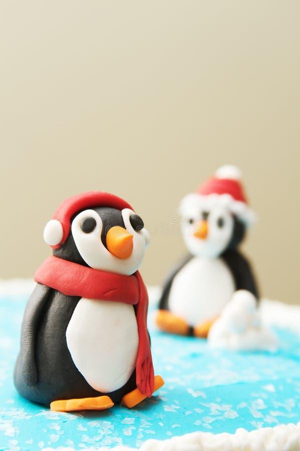 Pinguim Art Sculptures imagem de stock