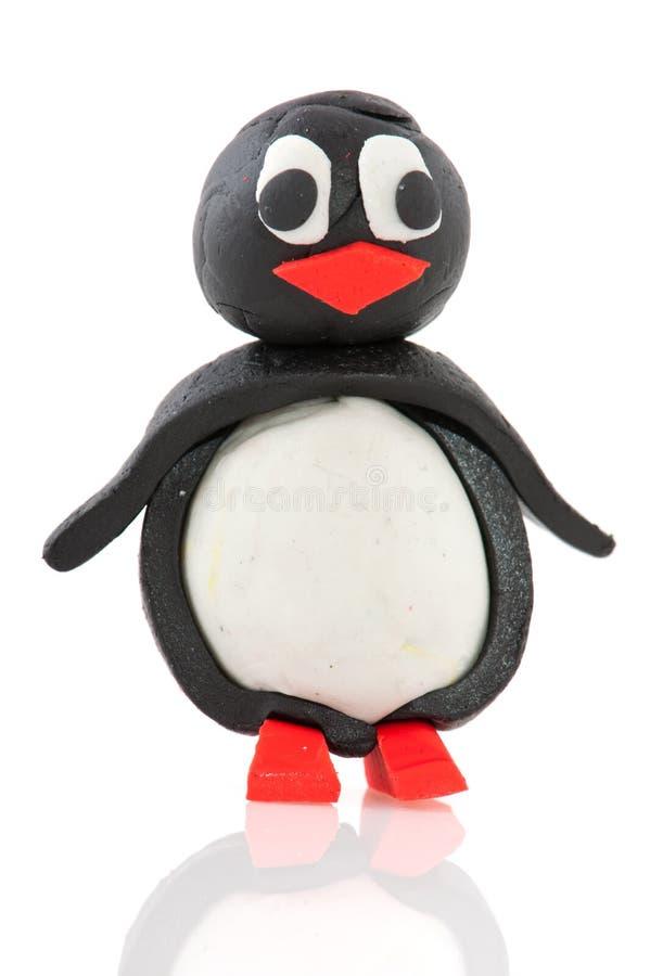 Pinguim da argila fotografia de stock
