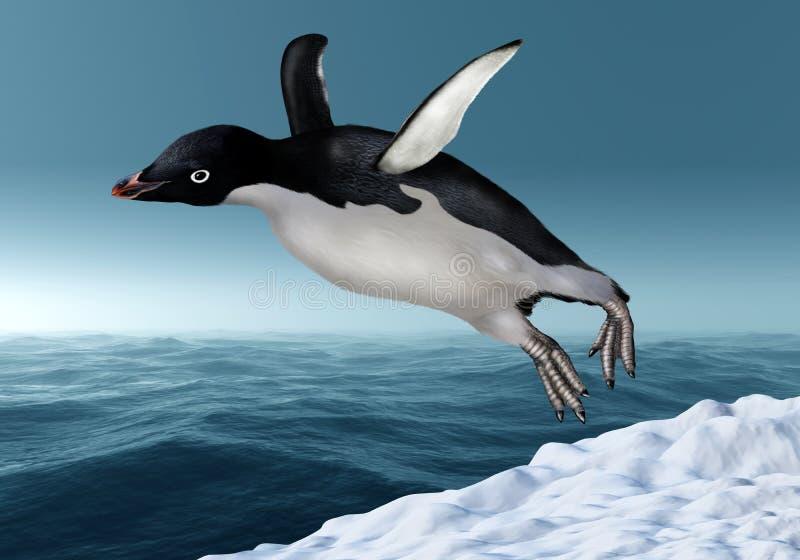 Pinguim de Adelie ilustração do vetor