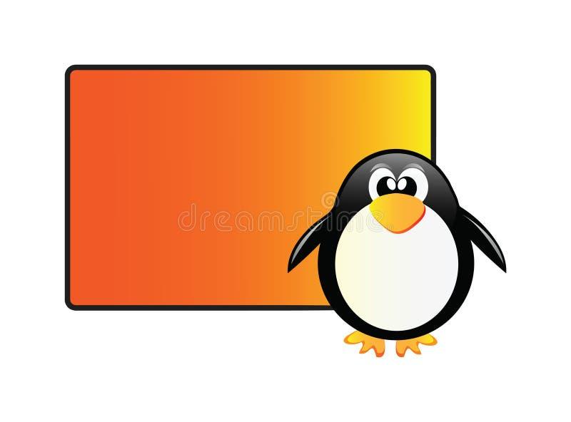 Pinguim de fala ilustração do vetor